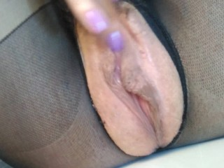 Russian MILF multiple orgasms live throbbing twat. creampie squirt GinnaGg