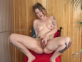 Hairy Babe masturbates and rubs her hairy cunt and sniffs her pits! (Apricot Pitts)