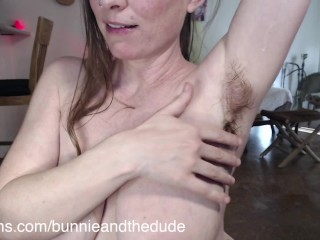 Sniff and Spray Hairy Stinky Armpits with Breastmilk Lick and Drip