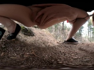 freckledRED Pees On A Public Trail 360 VR